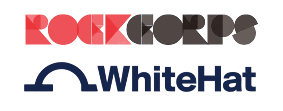 RockCorps and WhiteHat logos - Both Champions of Young people